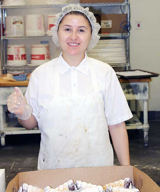 Eurobake Baker Packing a Pastry Box
