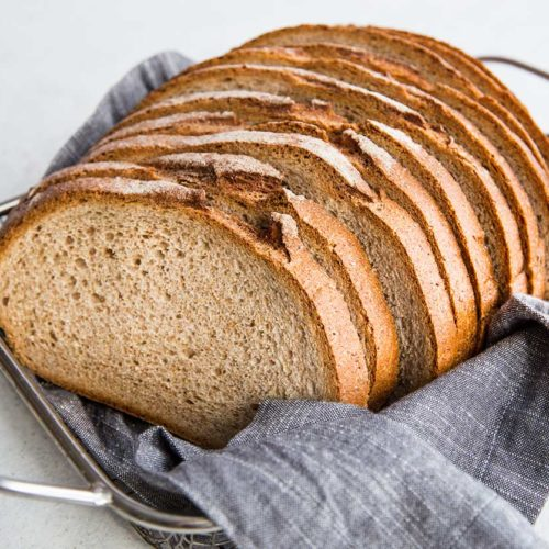 Rye Bread in Basket