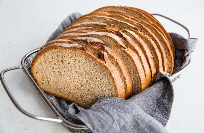 Rye Bread in Basket