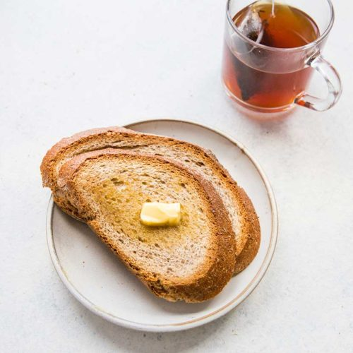 Rye Bread Slice with Butter