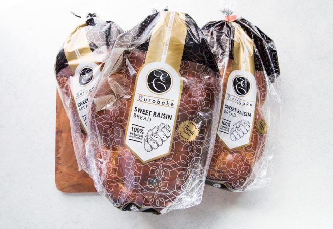 Sweet Raisin Bread In Packaging